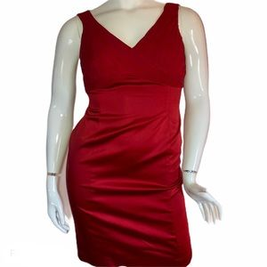 Adrianna Papell red sleeveless dress